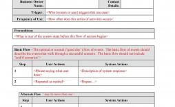 005 Unbelievable Use Case Template Word Example  Specification Description Test Document