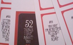 005 Unforgettable 52 Reason Why I Love You Deck Of Card Free Template Picture
