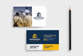 005 Unforgettable Construction Busines Card Template High Definition  Company Visiting Format Word For Material