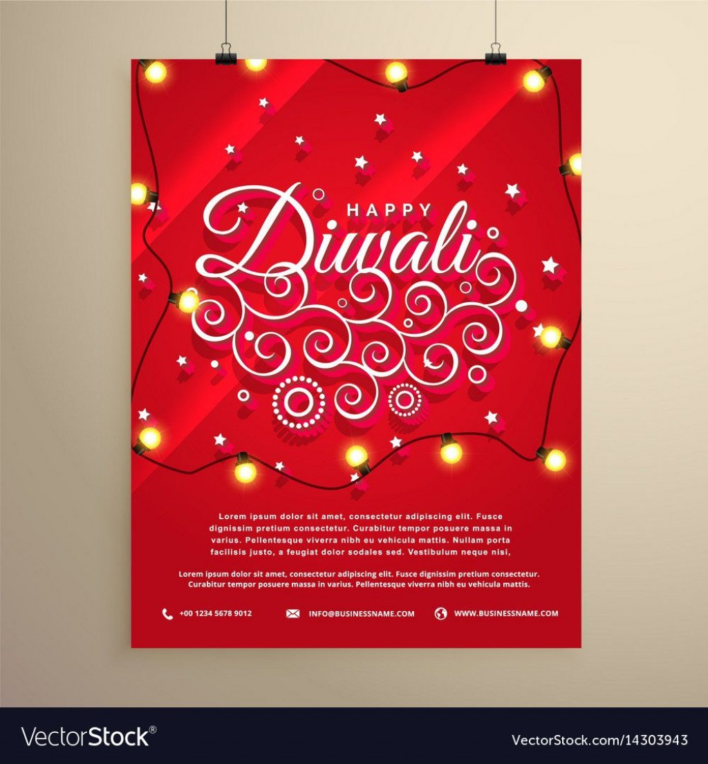 005 Unforgettable Diwali Party Invite Template Free Highest Quality Large