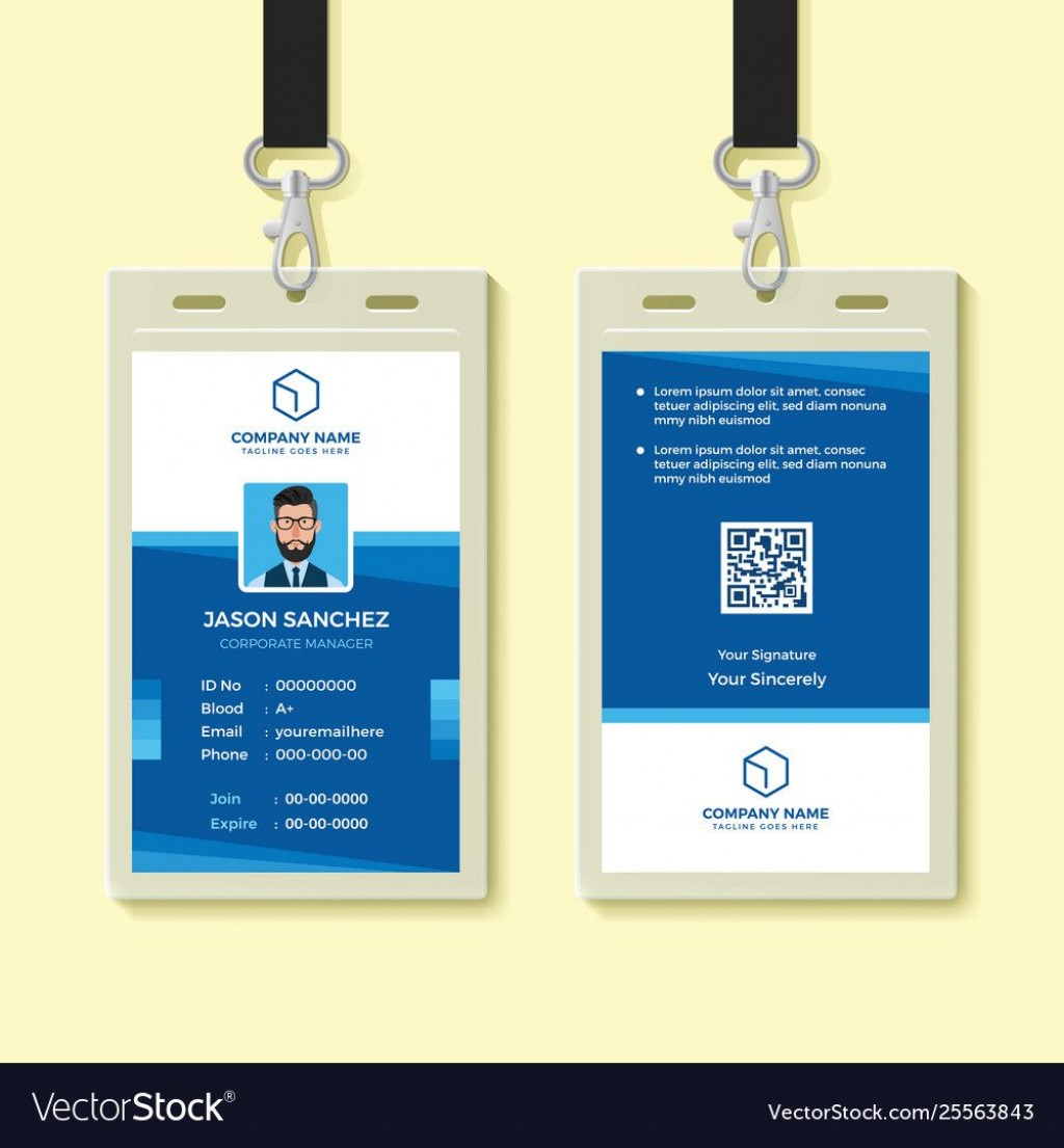 005 Unforgettable Employee Id Card Template Highest Clarity  Free Download Psd WordLarge
