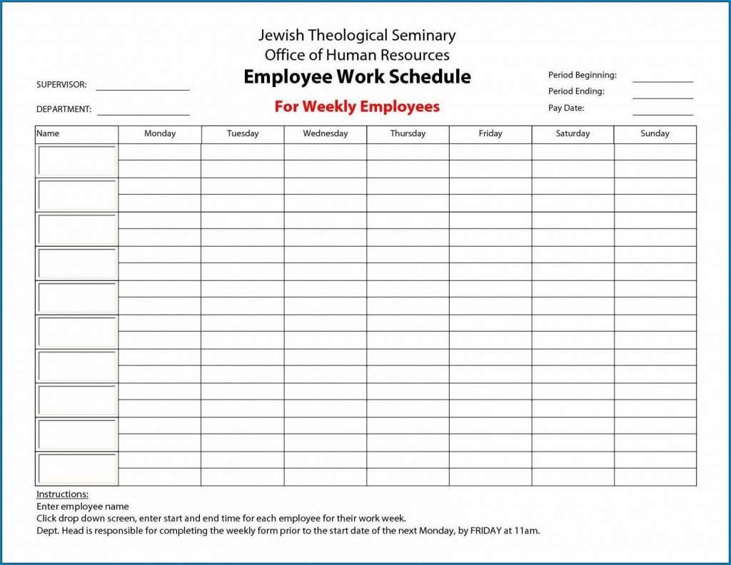 005 Unforgettable Free Employee Work Schedule Template Highest Quality  Templates Monthly Excel Weekly PdfLarge