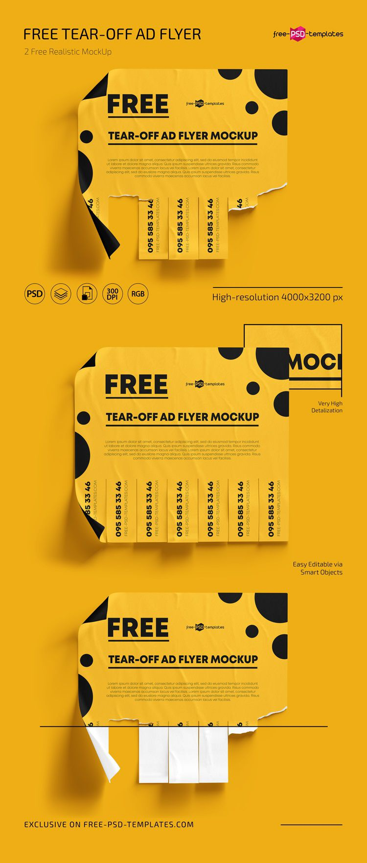 005 Unforgettable Free Tear Off Flyer Template High Resolution  Tear-off For Microsoft Word Printable With TabFull