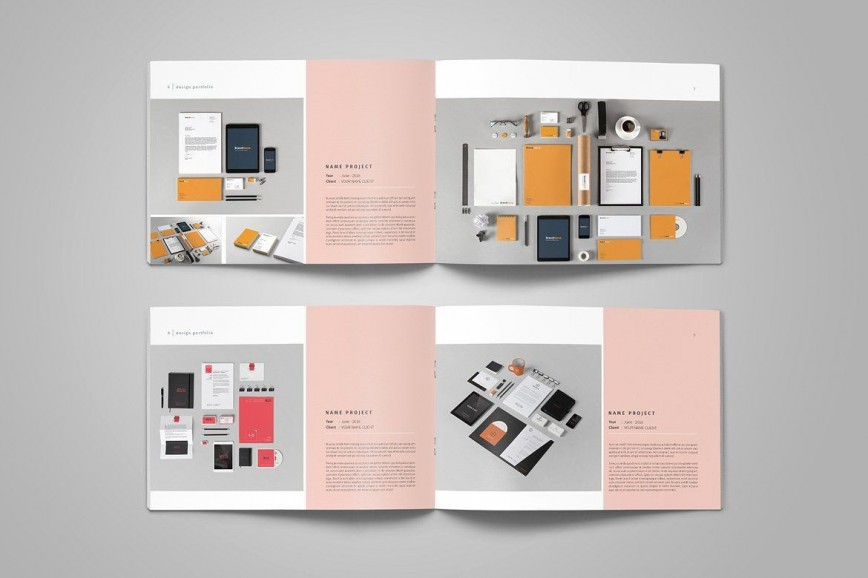 005 Unforgettable Interior Design Portfolio Template Photo  Layout Free Download Ppt