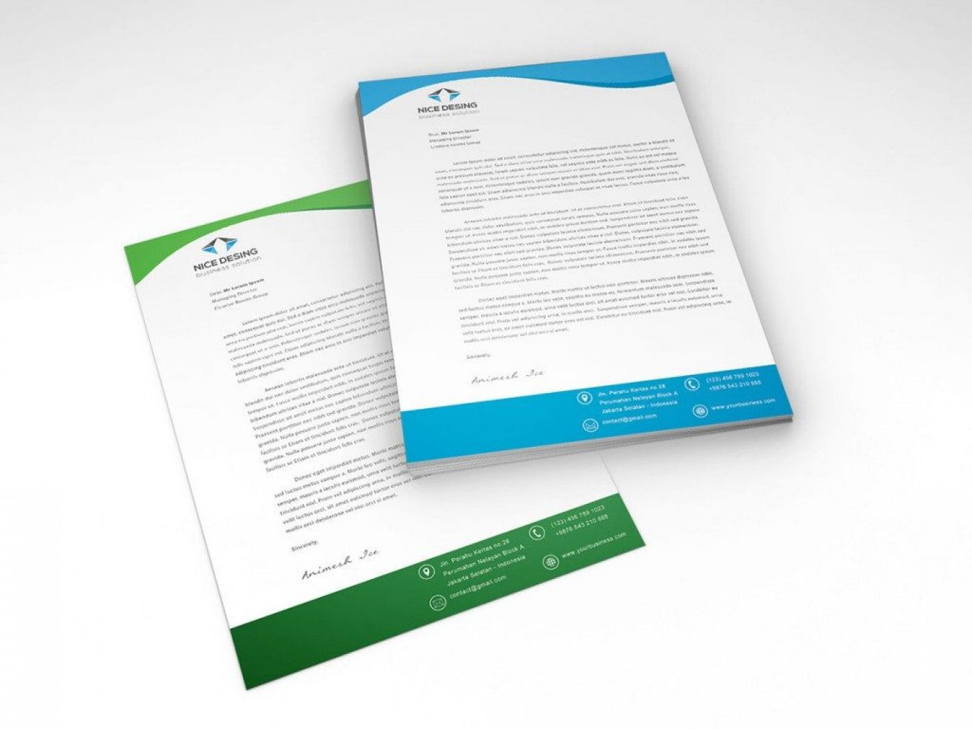 005 Unforgettable Letterhead Template Free Download Psd Sample  Corporate A41400