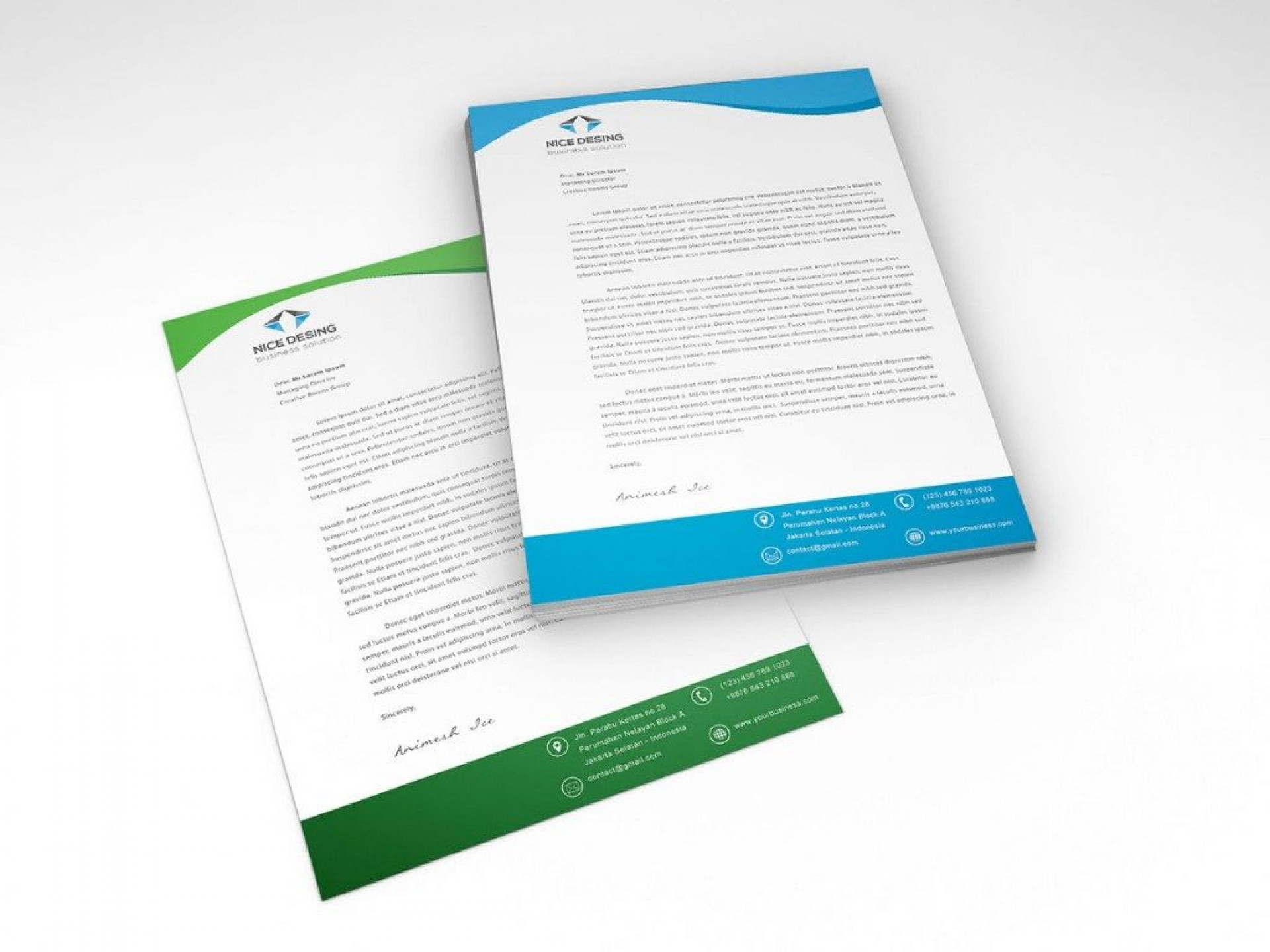 005 Unforgettable Letterhead Template Free Download Psd Sample  Corporate A41920
