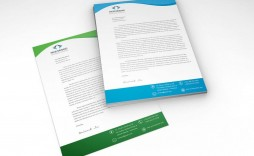 005 Unforgettable Letterhead Template Free Download Psd Sample  A4 Company