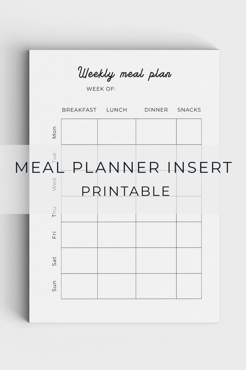 005 Unforgettable Meal Plan Printable Pdf Image  Worksheet Downloadable Template SheetLarge