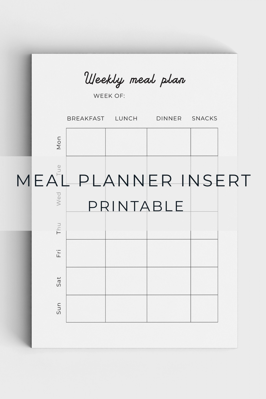 005 Unforgettable Meal Plan Printable Pdf Image  Worksheet Downloadable Template Sheet1920
