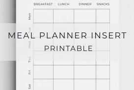 005 Unforgettable Meal Plan Printable Pdf Image  Worksheet Downloadable Template Sheet