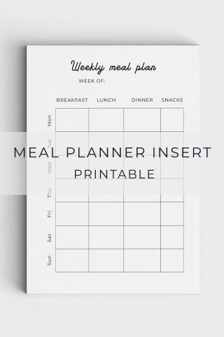 005 Unforgettable Meal Plan Printable Pdf Image  Worksheet Downloadable Template Sheet320