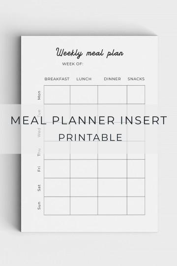005 Unforgettable Meal Plan Printable Pdf Image  Worksheet Downloadable Template Sheet360