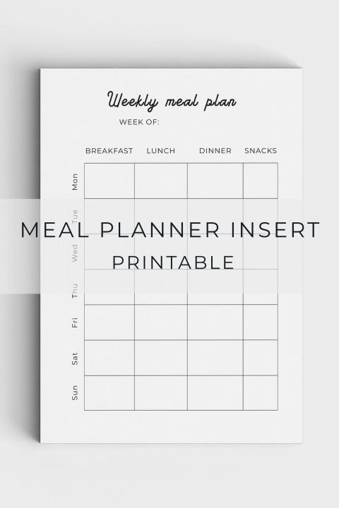 005 Unforgettable Meal Plan Printable Pdf Image  Worksheet Downloadable Template Sheet480