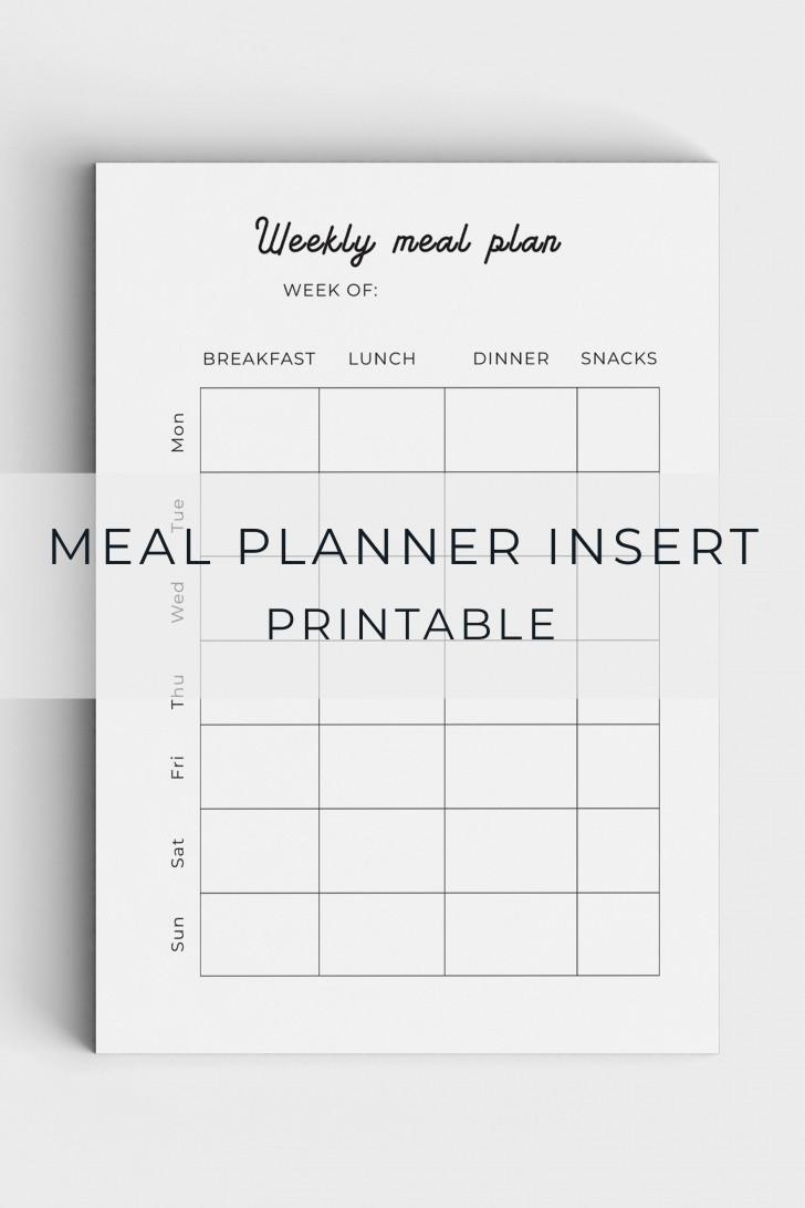 005 Unforgettable Meal Plan Printable Pdf Image  Worksheet Downloadable Template Sheet728