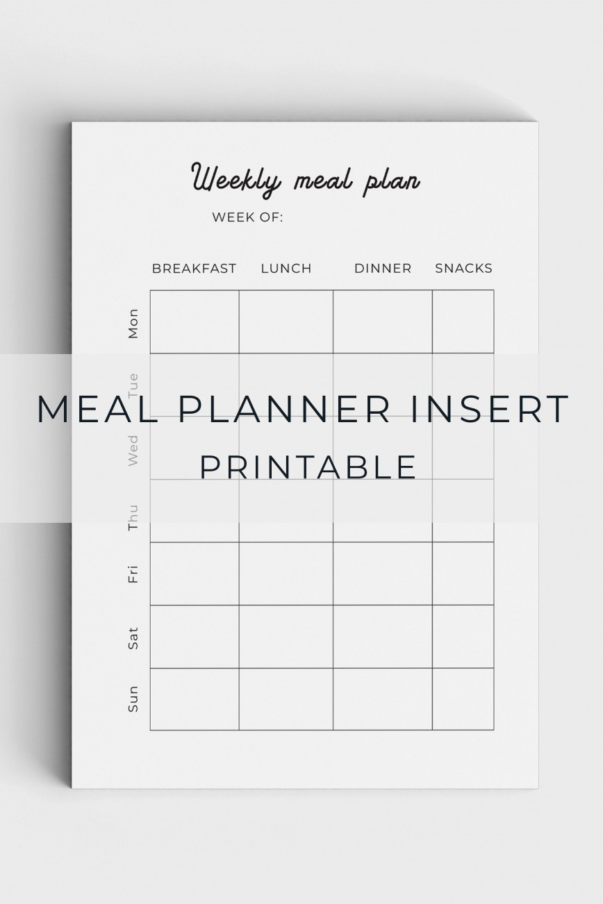 005 Unforgettable Meal Plan Printable Pdf Image  Worksheet Downloadable Template Sheet868