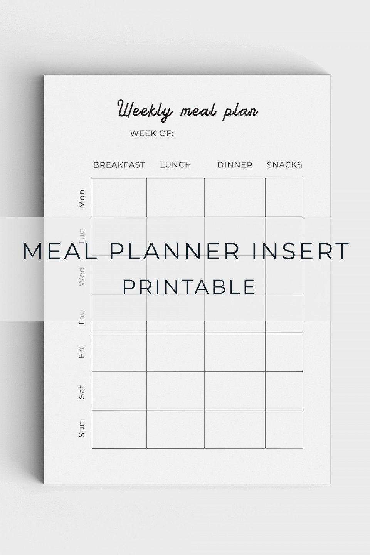 005 Unforgettable Meal Plan Printable Pdf Image  Worksheet Downloadable Template Sheet960