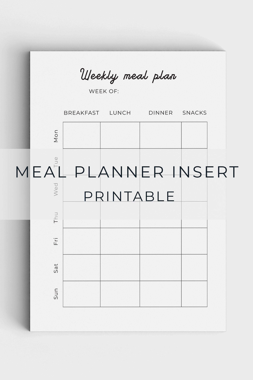 005 Unforgettable Meal Plan Printable Pdf Image  Worksheet Downloadable Template SheetFull