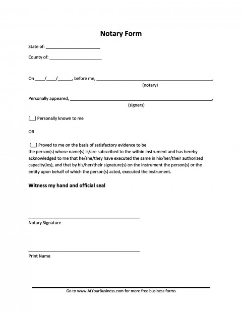 005 Unforgettable Notarized Letter Template Word High Resolution  Microsoft480