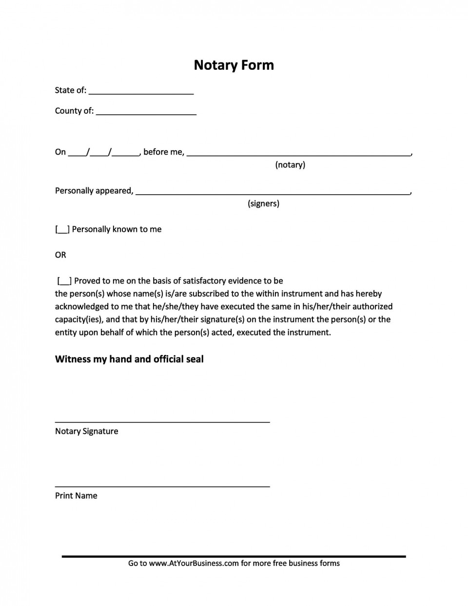 005 Unforgettable Notarized Letter Template Word High Resolution  Microsoft960