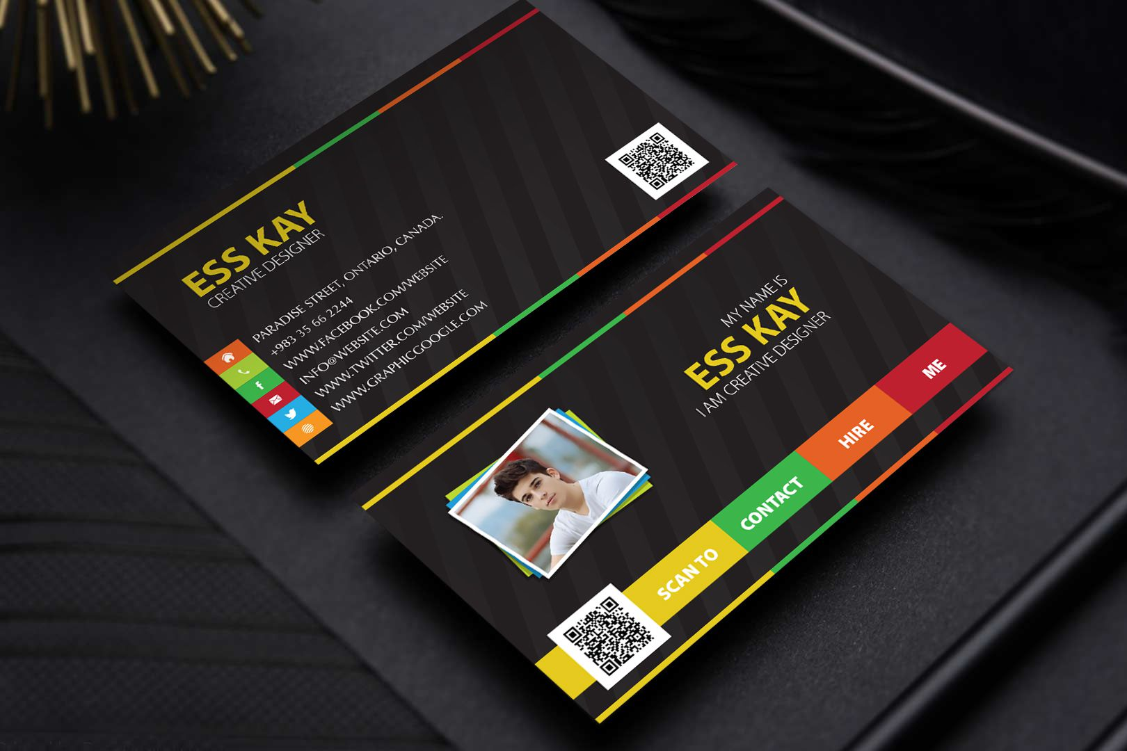 005 Unforgettable Personal Busines Card Template Highest Clarity  Trainer Design Psd FitnesFull