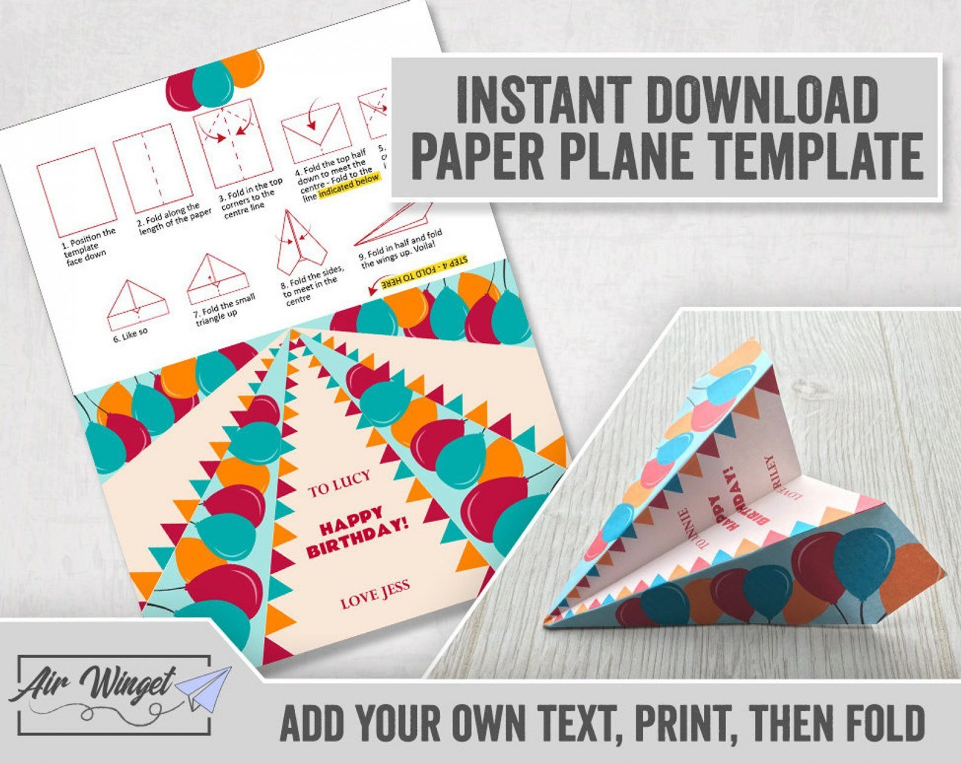 005 Unforgettable Printable Paper Plane Template Design  Templates Model Free Airplane Pattern1920