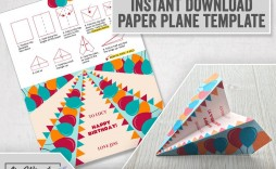 005 Unforgettable Printable Paper Plane Template Design  Templates Model Free Airplane Pattern