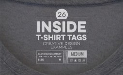 005 Unforgettable T Shirt Tag Template Highest Clarity  Neck Label