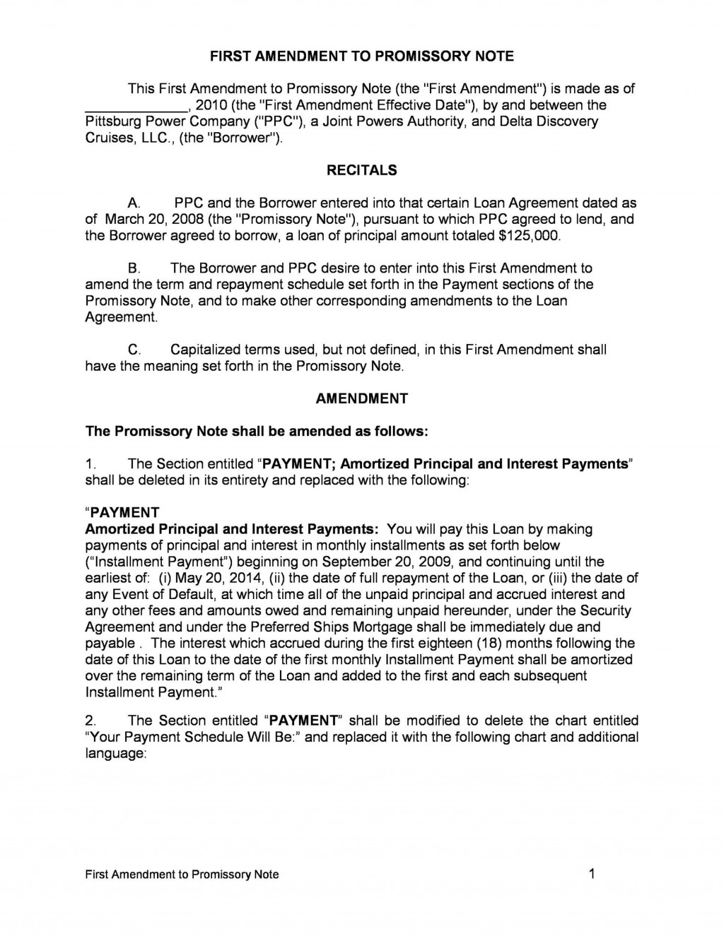 005 Unforgettable Unsecured Promissory Note Template High Def  California WordLarge