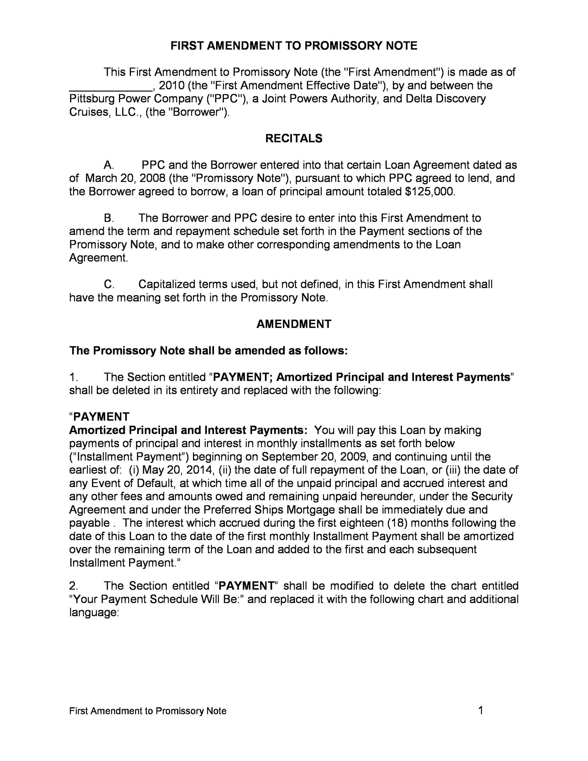 005 Unforgettable Unsecured Promissory Note Template High Def  California WordFull