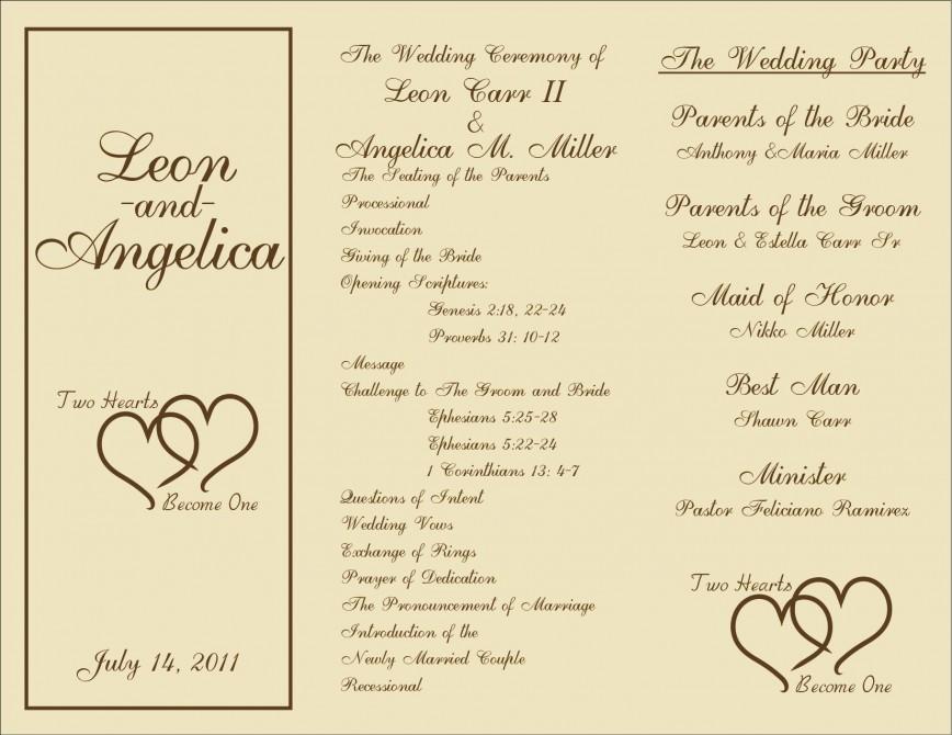 005 Unforgettable Wedding Program Template Free Download Inspiration  Editable Word