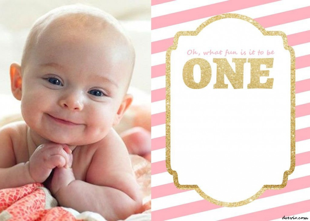 005 Unique 1st Birthday Invitation Template Highest Quality  Background Design Blank For Girl First Baby Boy Free Download IndianLarge