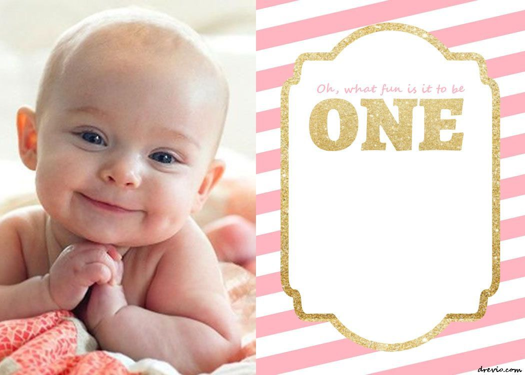 005 Unique 1st Birthday Invitation Template Highest Quality  Background Design Blank For Girl First Baby Boy Free Download IndianFull