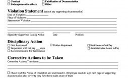 005 Unique Employee Discipline Form Template Highest Clarity  Free Disciplinary Letter Action