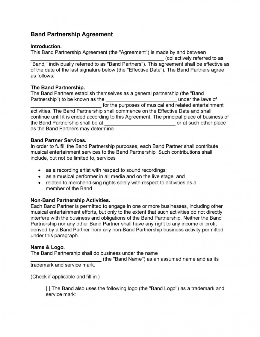 005 Unique Limited Company Partnership Agreement Template Uk Design