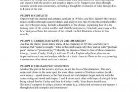 005 Unique Of Mice And Men Essay Image  Prompt Topic
