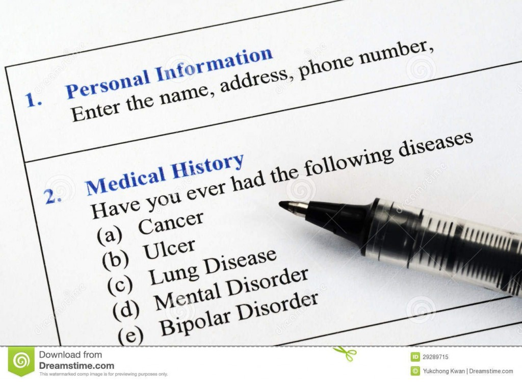 005 Unique Personal Medical History Template Download High Definition Large