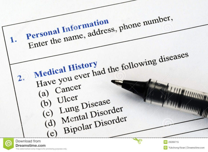 005 Unique Personal Medical History Template Download High Definition 868