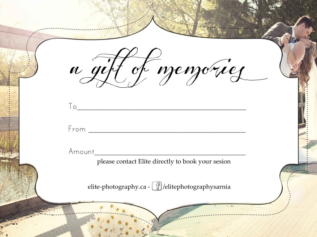 005 Unique Photography Session Gift Certificate Template Highest Quality  Photo FreeLarge