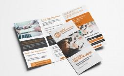 005 Unique Three Fold Brochure Template Psd Design  A4 3 Free