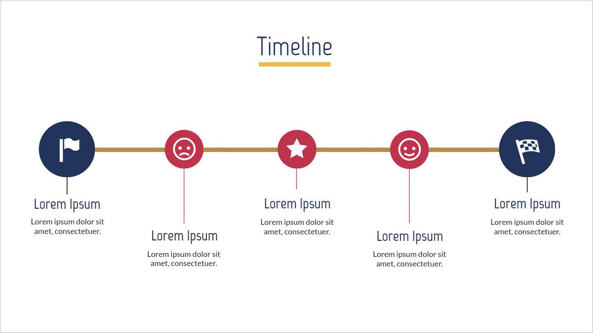 005 Unique Timeline Template For Presentation Image  Project Example PresentationgoFull