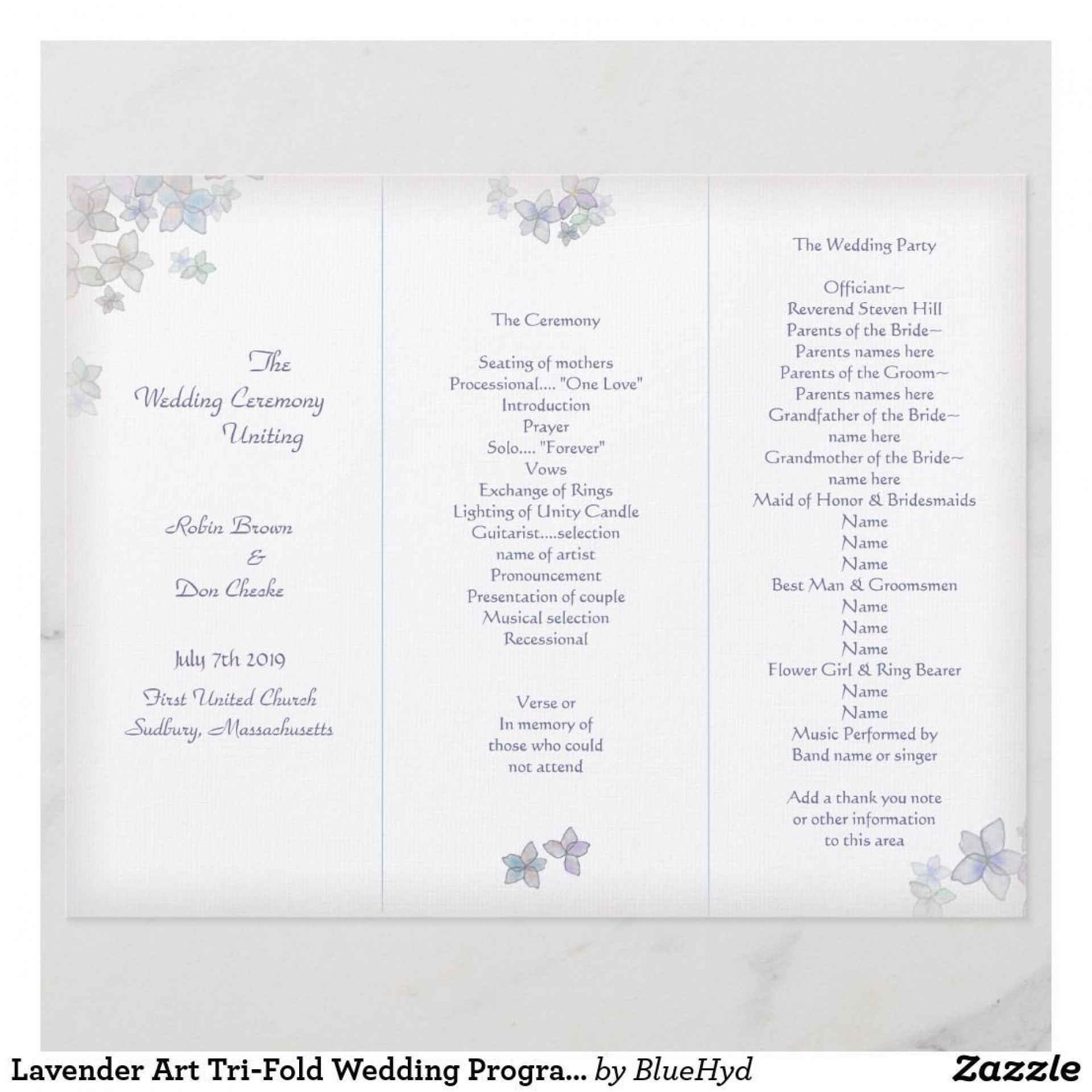 005 Unique Trifold Wedding Program Template Highest Clarity  Tri Fold Word Folded Example1920