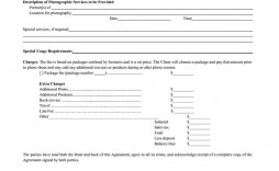 005 Unique Wedding Photography Contract Template Pdf Example