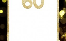 005 Unusual 60 Birthday Invite Template Inspiration  Templates 60th Printable Free