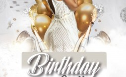 005 Unusual Birthday Flyer Template Psd Free Download High Definition