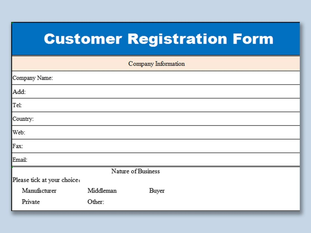 005 Unusual Busines Credit Application Form Template Excel Sample Large