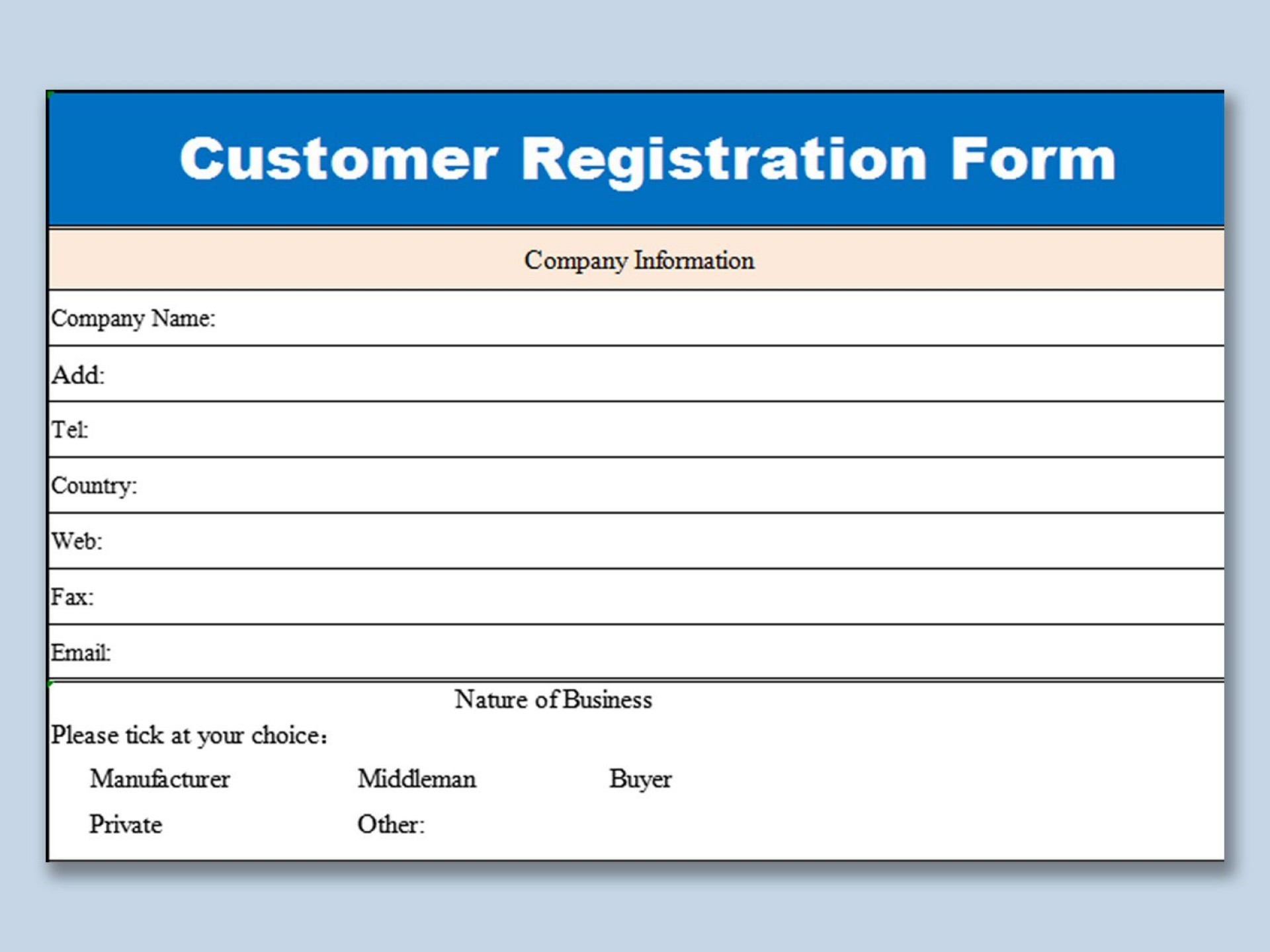 005 Unusual Busines Credit Application Form Template Excel Sample 1920