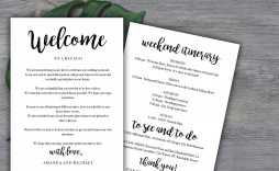 005 Unusual Destination Wedding Welcome Letter Template Highest Quality  And Itinerary