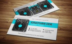 005 Unusual Dj Busines Card Template Design  Psd Free Download