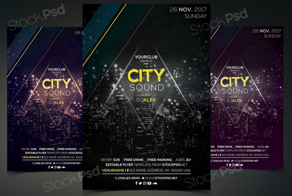 005 Unusual Event Flyer Template Free High Resolution  Word Download PsdLarge
