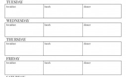 005 Unusual Excel Weekly Meal Planner Template Image  With Grocery List Downloadable